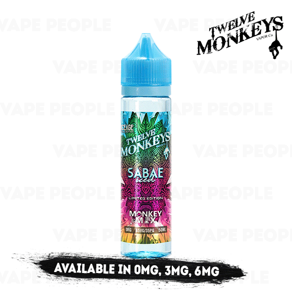 Sabae Iced vape liquid by Twelve Monkeys: Ice Age Mix Series - 50ml Short Fill - eJuice