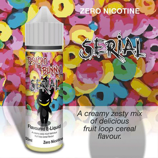 Serial e-liquid by Psycho Bunny - 50ml Short Fill - Best E Liquids