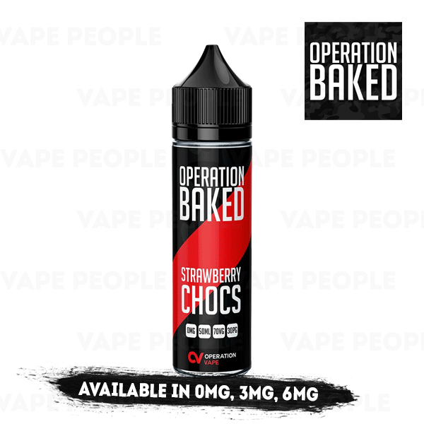 Strawberry Chocs vape liquid by Operation Baked - 50ml Short Fill - Best E Liquids