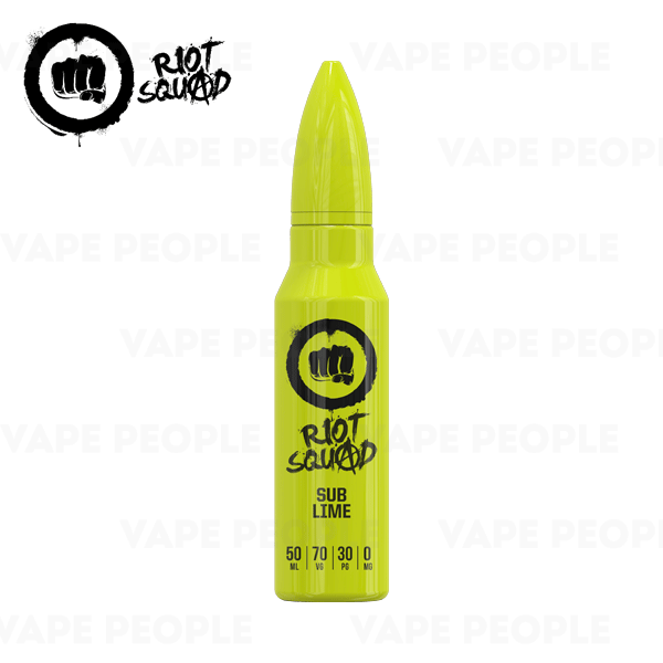 Sub-Lime vape liquid by Riot Squad - 50ml Short Fill - Best E Liquids