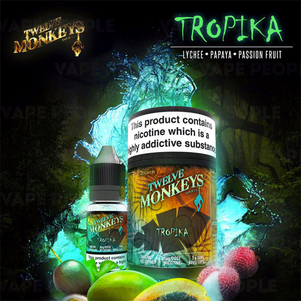 Tropika e-liquid by Twelve Monkeys - 10ml, 30ml - Best E Liquids