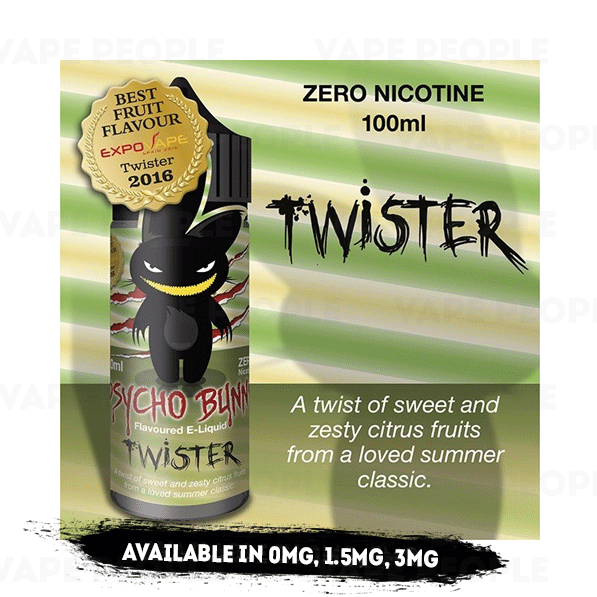 Twister vape liquid by Psycho Bunny - 100ml Short Fill