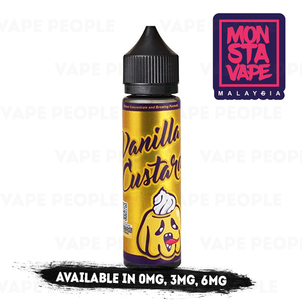 Vanilla Custard (No Ice) vape liquid by Monsta Vape - 50ml Short Fill