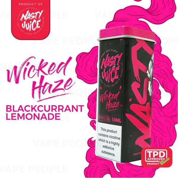 Wicked Haze e-liquid by Nasty Juice - 10ml, 50ml - Best E Liquids
