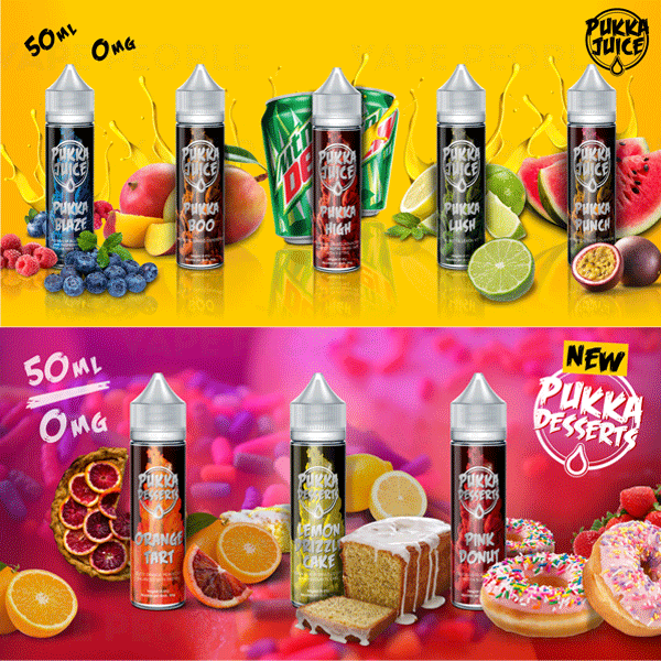 Pink Donut e-liquid by Pukka Juice Deserts- 50ml Short Fill - Best E Liquids