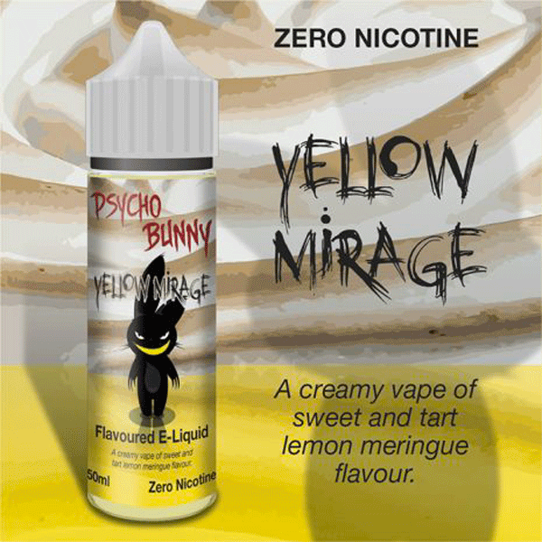 Yellow Mirage e-liquid by Psycho Bunny - 50ml Short Fill - Best E Liquids