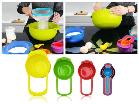Colorful Plastic Measuring Spoon Cups X 6 pieces