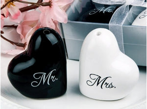 Spice Canisters Heart Shaped Mr & Mrs