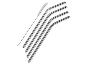 4 Drinking Straws with Cleaning Brush.