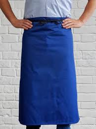 Apron Long Waist Royal Blue
