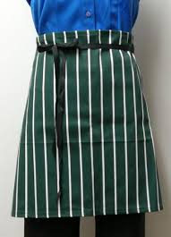 Apron Short Half - Stripes