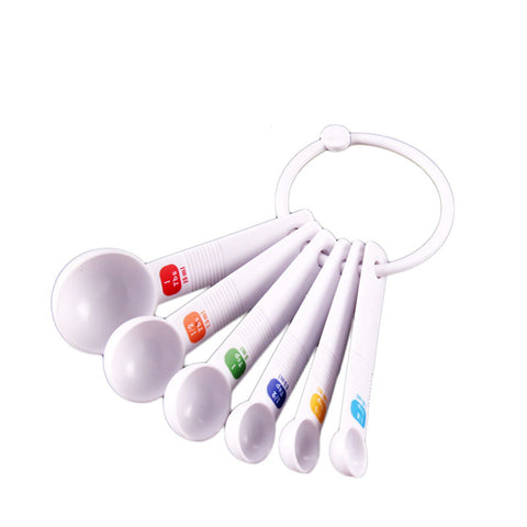 Plastic White Measuring Spice Spoons
