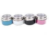 Six Piece Kitchen Condiment Storage - Magnetic Containers - Spice Jars and a Rack