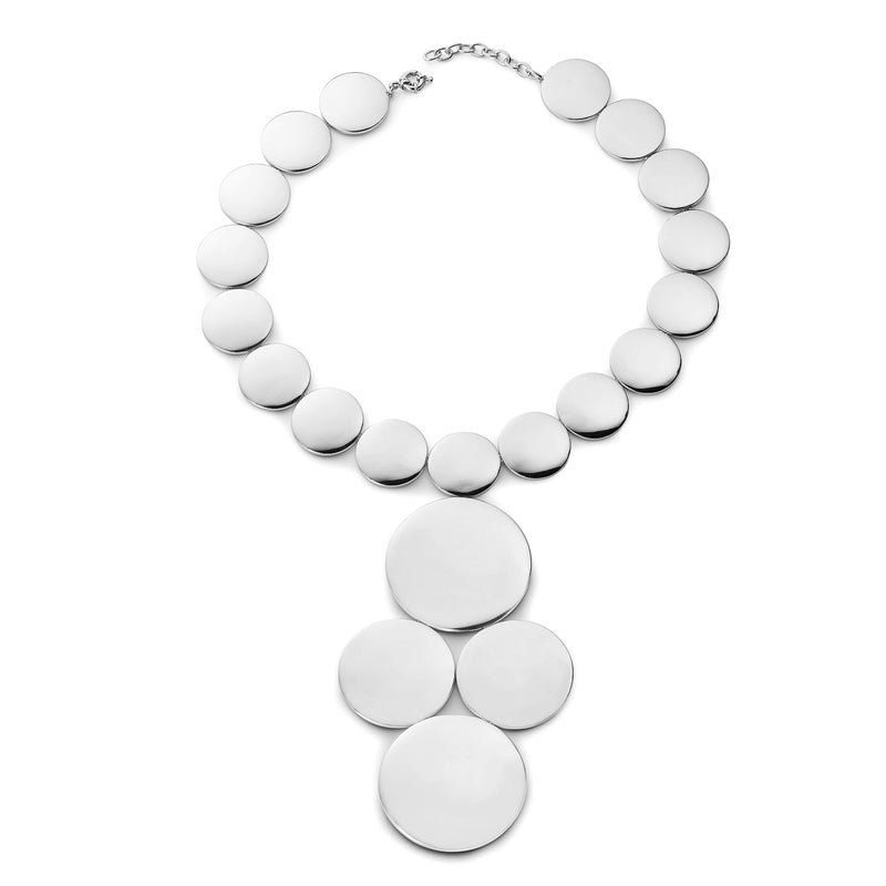 Astrid Dome Amazon Necklace Silver Plated
