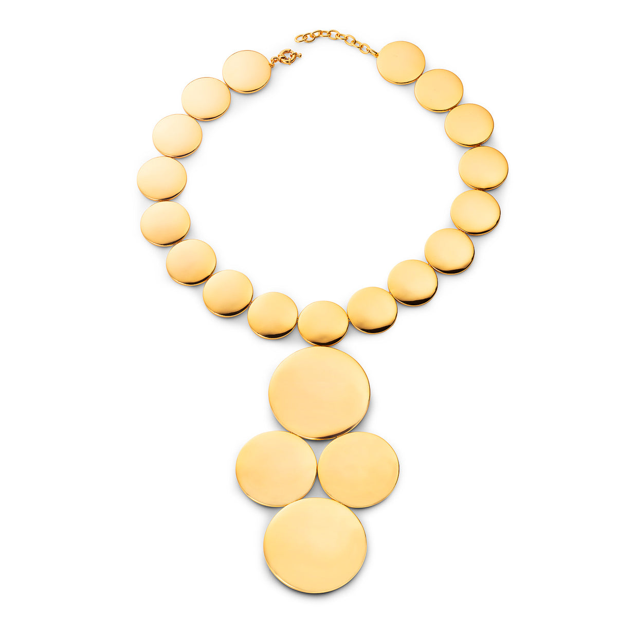 Astrid Dome Amazon Necklace Gold Plated