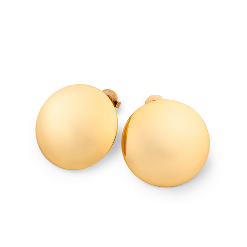 Astrid Dome Studs Gold plated