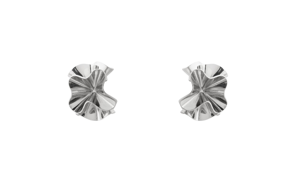 Hedvig Deco Petite Hoops Silver Plated - Charlotte Bonde