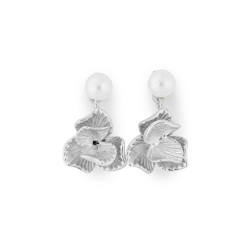 Ever After Poppy Petite Pearl Studs silver plated