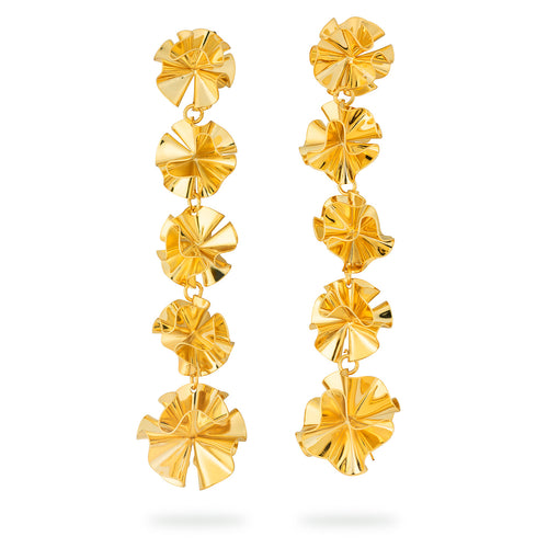 Hedvig Deco Vanity Earrings Gold Plated