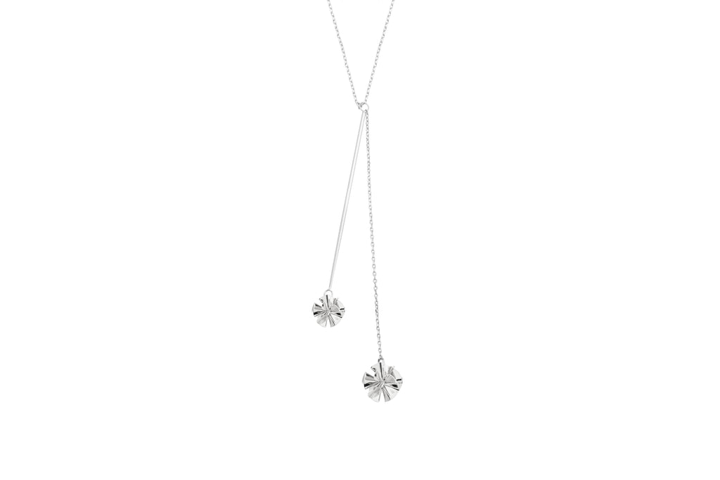 Hedvig Deco Y Petite Necklace Silver Plated - Charlotte Bonde