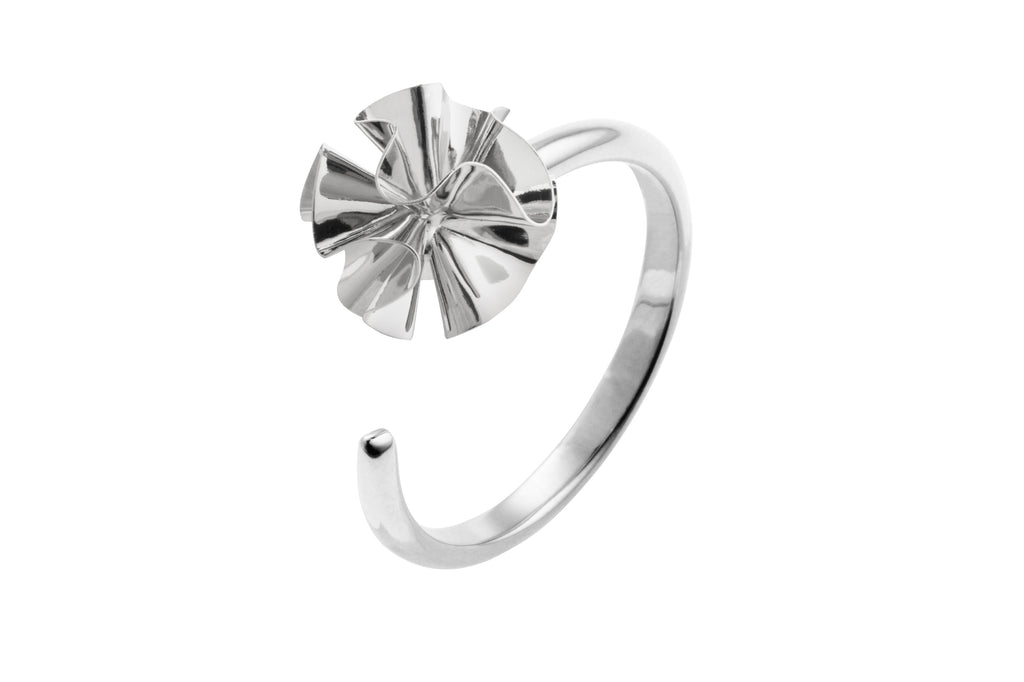 Hedvig Deco Ring Silver Plated - Charlotte Bonde