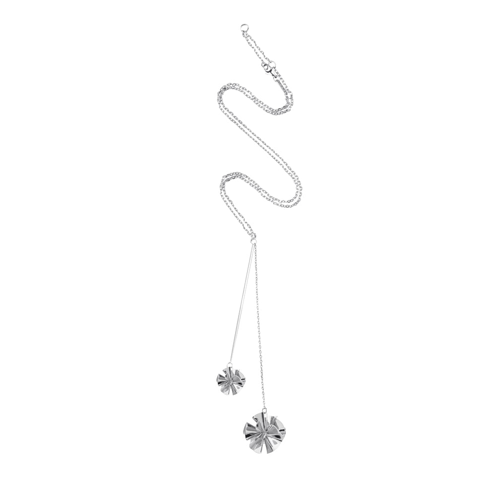 Hedvig Deco Y Necklace Silver Plated - Charlotte Bonde