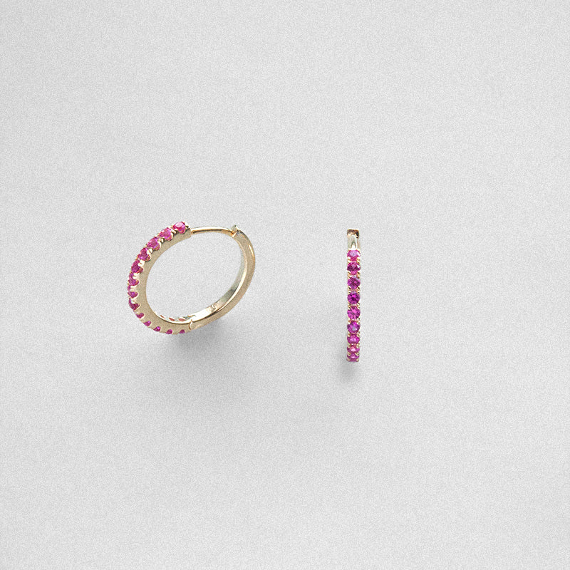 Irma Eternity Hoops Ruby - Charlotte Bonde