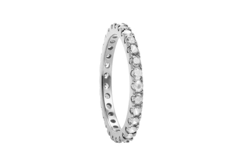 Irma Eternity Ring Rock Crystal - Charlotte Bonde