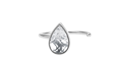 Irma Petite Open Ring Rock Crystal - Charlotte Bonde