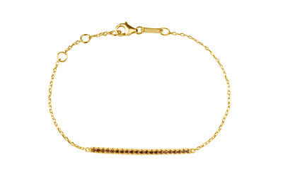 Irma Eternity Bar Bracelet Smoky Quartz - Charlotte Bonde