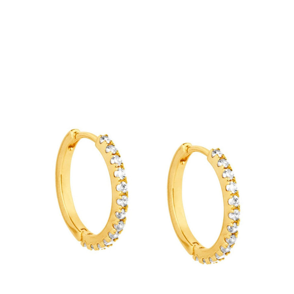 Irma Eternity Hoops Rock Crystal - Charlotte Bonde