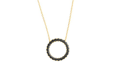 Irma Eternity Necklace Obsidian