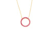 Irma Eternity Necklace Ruby - Charlotte Bonde