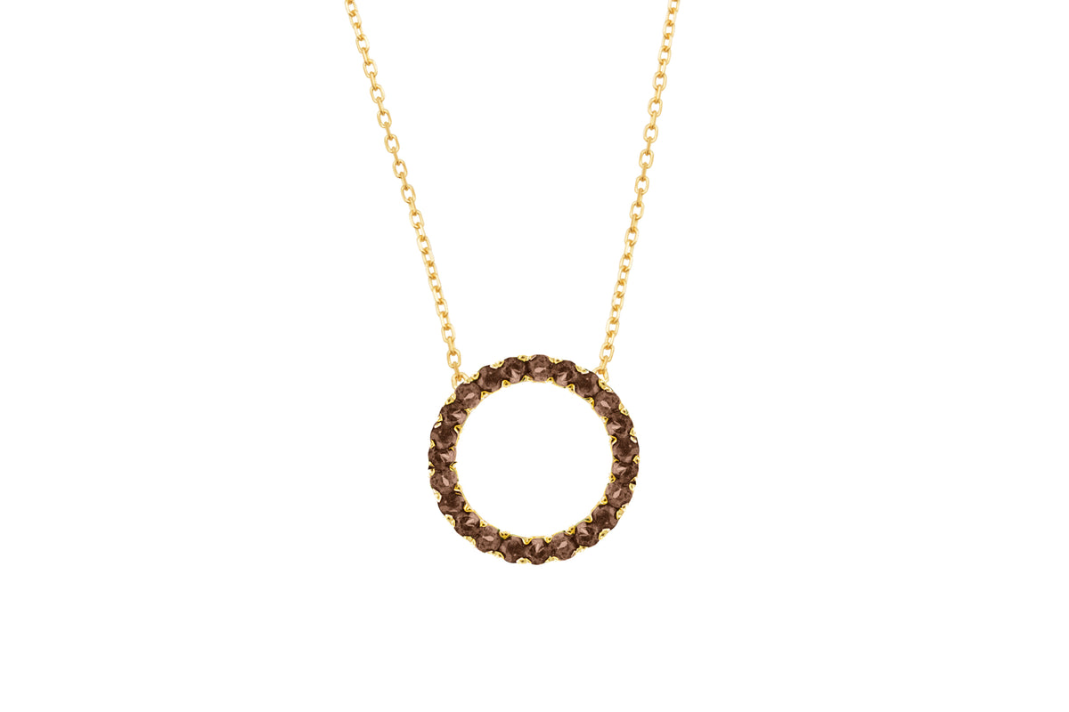 Irma Eternity Necklace Smoky Quartz - Charlotte Bonde