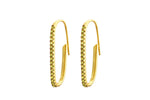 Irma Paperclip Earrings Peridot - Charlotte Bonde Sthlm