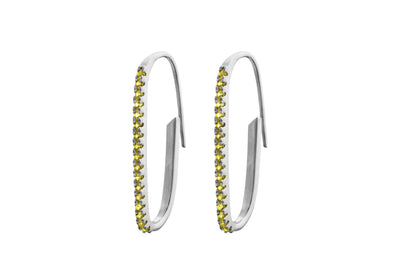 Irma Paperclip Earrings Peridot - Charlotte Bonde