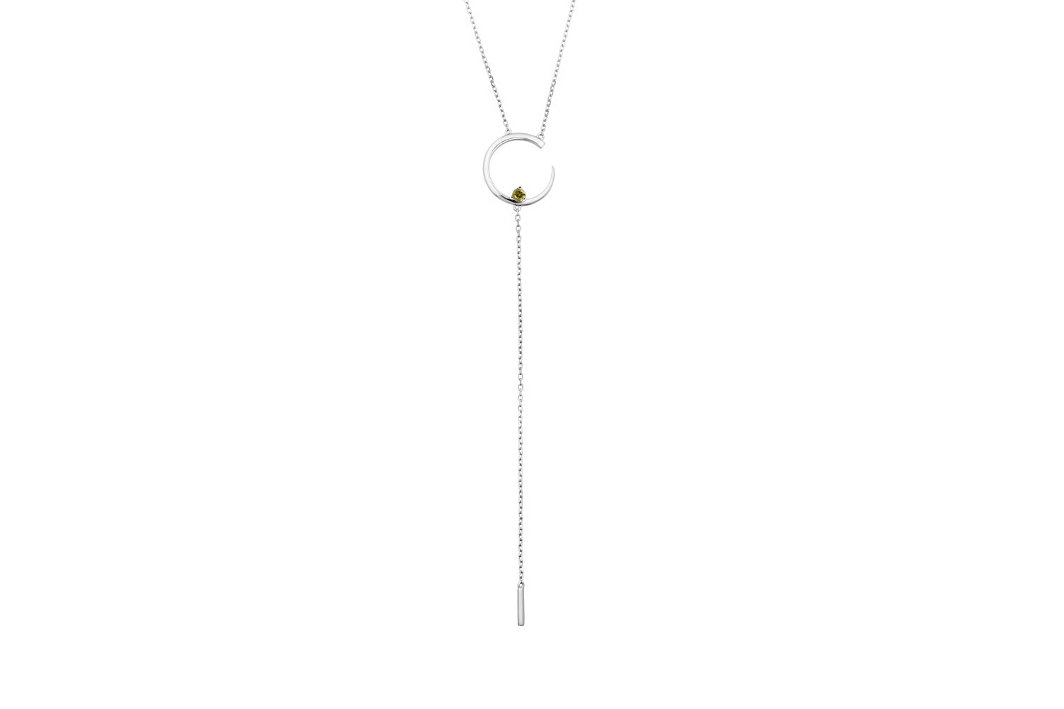 Irma Solitaire Necklace Peridot