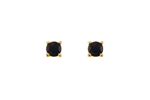 Irma Solitaire Petite Studs Obsidian - Charlotte Bonde