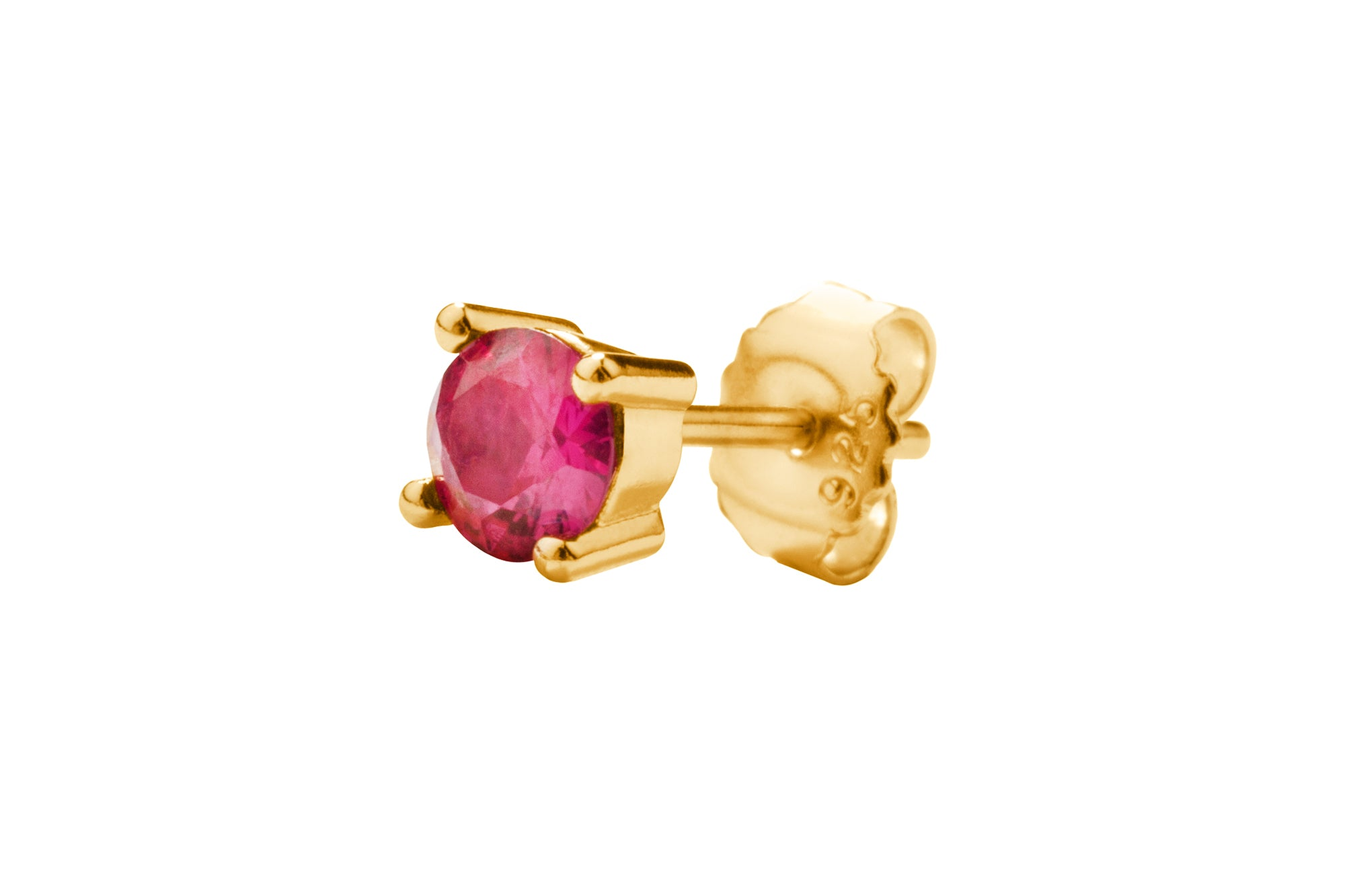 Irma Solitaire Studs Ruby - Charlotte Bonde