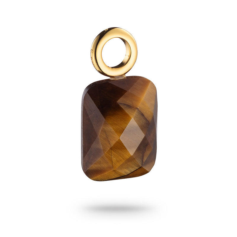 Signature Jet Square Pendant Tiger's Eye