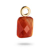 Signature Jet Square Pendant Red Agate