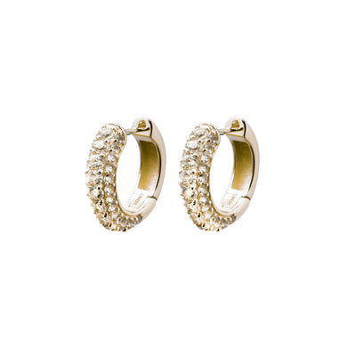 Timeless Chunky Hoops Rock Crystal - Charlotte Bonde