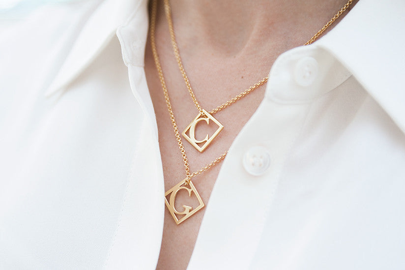 Letter Pendant Necklace by Charlotte Bonde STHLM