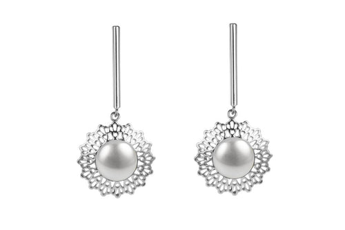 Louise Star Petite Earrings White Pearl - Charlotte Bonde