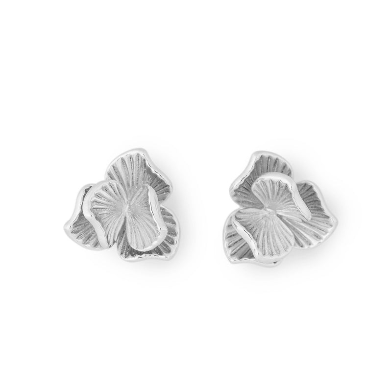 Ever After Poppy Petite Studs Silver Plated