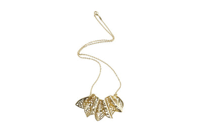 Louise Ribbon Pendant Necklace - Charlotte Bonde