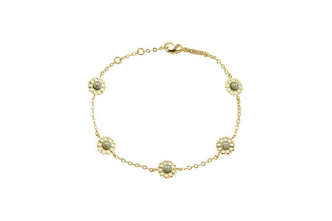 Louise Star Mix Bracelet Green Pearl