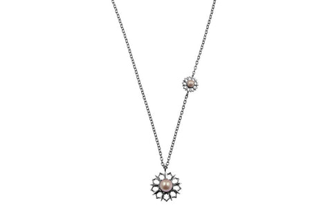 Louise Star Vanity Necklace Pink Pearl