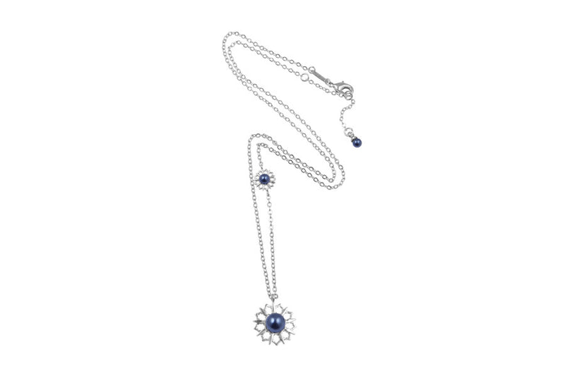Louise Star Vanity Necklace Blue Pearl - Charlotte Bonde