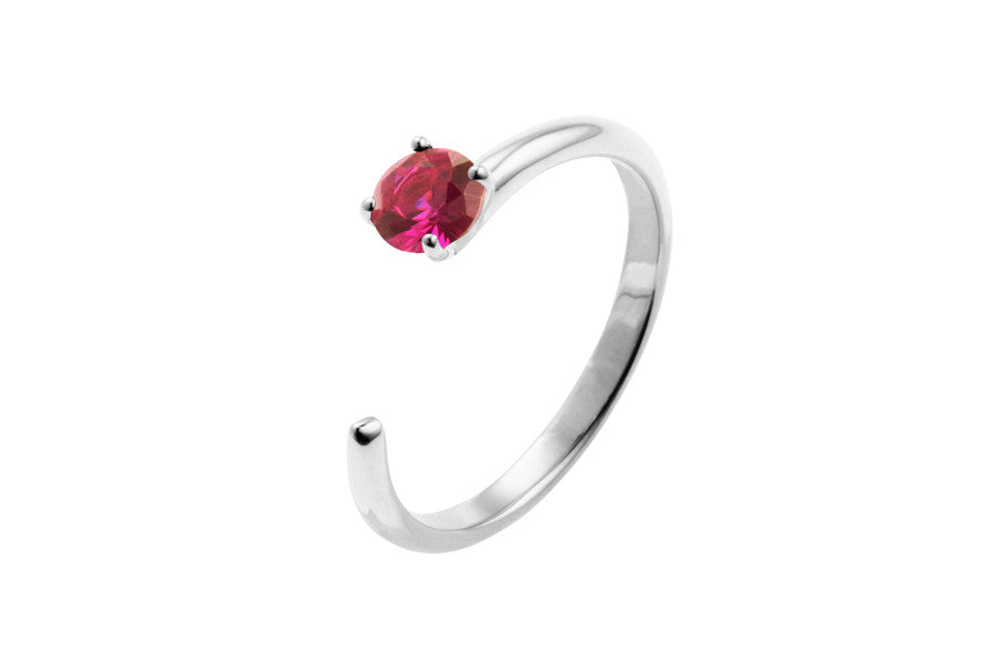 Irma Solitaire Ring Ruby - Charlotte Bonde